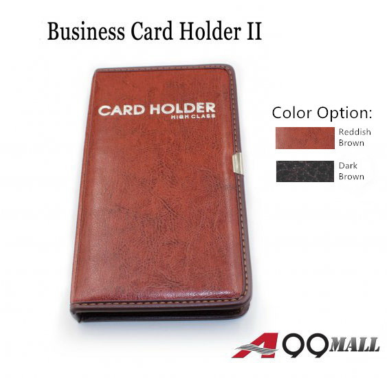 A99 business card holder ii leather 120 business name card holder 1 x leather 120 business name card holder book reheart Images