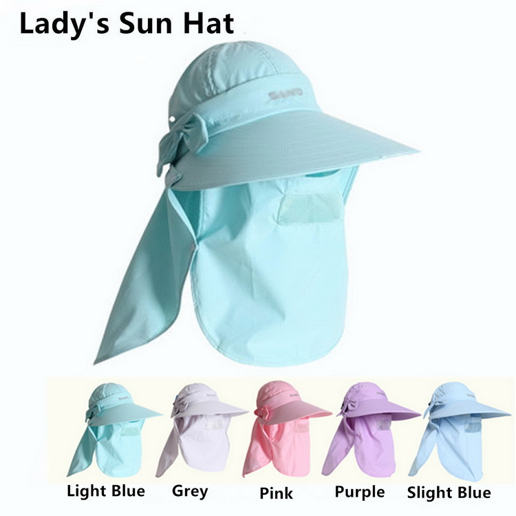 Women's Sunhat Upf+50 Bucket Hat with Neck Cover - Click Image to Close