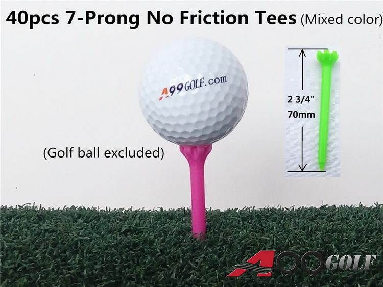 A99 Golf 2 3 4 Quot 7 Prong No Friction Mixe Color Tee 40pcs